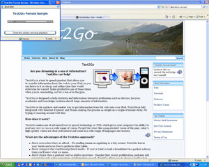 Text2Go Web Audio Player