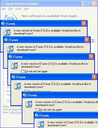 A new version of iTunes is available. Do you want to update?