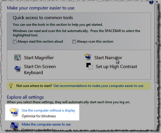 Make your computer easier to use