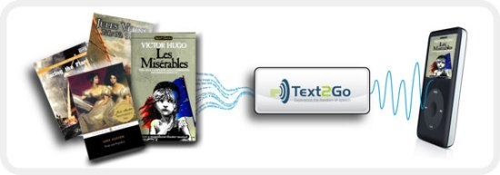 Text2Go - Now supports ebook to audiobook conversion